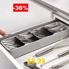 Kitchen #Drawer #Organizer #Tray #Rack #Spoon #Fork #Cutlery #Separation #Storage #Box #Space #Saving #Organizer