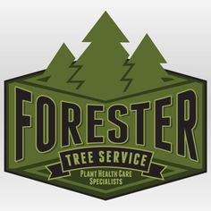 Forester Tree Service Branding By Rev Pop #badge #tree #advertising #brand #service #logo