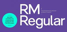 Fonts - RM Regular by Mash Creative - HypeForType Font Shop #regular
