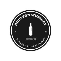 Houston Whiskey #logo #circle #branding #typography