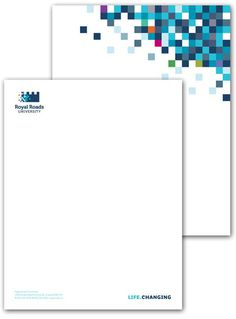 Royal Roads University #letterhead #identity #branding #stationery
