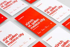 Helvetia Trust by Anagrama #branding #red #graphic design