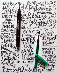 Pen Tips for Great Handwriting #type #lettering #hand #typography