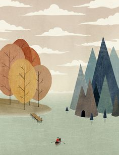 The Muted and Mystical Illustrations of Dadu Shin #illustration #texture
