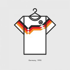 Germany World Cup Winning Football Kit 1990 - Minimal Illustration by Lucas Jubb