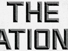 Dribbble - The National by Paul Price #typography