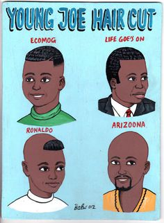 Indigo Arts Gallery   African Barber Signs   Burkina Faso #barber #africa #hair #haircut #illustration