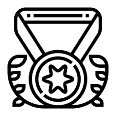 See more icon inspiration related to win, medal, best, first, award, sports and competition, champion, badge, winner and sports on Flaticon.
