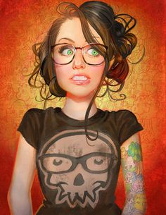 Florixia by JenPenJen on deviantART #girl #illustration #portrait #painting #drawing