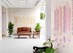 Embroidered Flower Lobby by Tripasai Architect - www.homeworlddesign. com (4) #design #decor
