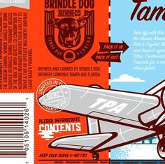 Brindle Dog Brewing Co. Artwork