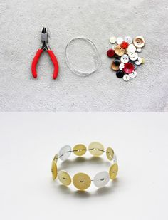 DIY Button Bracelet #DIY #bracelet