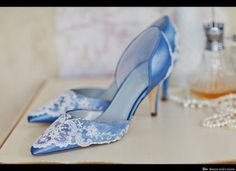 Etsy Weddings: Handmade Object Of The Week #blue #wedding #shoe