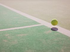 David Ryle #lines #tennis #ball #straight #photography #green