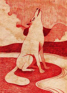 Wolf on Behance #illustration #wolf
