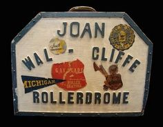 Anonymous Works: Joan Walcliffe Hits the Rollerdrome! #roller #retro #box #wood #type