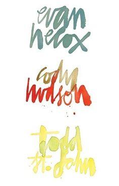 Evan Hecox lettering #lettering #hecox #evan #freehand
