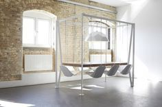 Swing Table by Duffy London #table #minimal #swinging #chairs