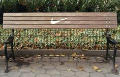 FFFFOUND! | Nike Bench Advertisements Encourage Runners To Keep Going | Complex #design #advertising