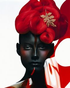Sara Lindholm #fashion #photography #red #black