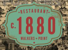 circa 1880 By Rev Pop #badge #1880 #milwaukee #pop #restaurant #scott #brand #starr #rev #logo