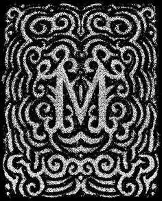 Uppercase Erik Marinovich M Black #type #ornated