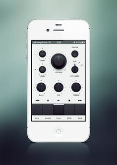 User interface inspiratie #iphone #app #interface #ui
