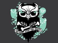 Dribbble - We Don't Sleep by Jthree Concepts #owl #design #illustration #tee #skull