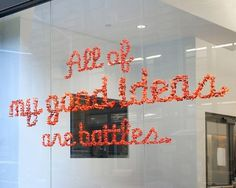 Adam Katz: All of my good ideas are battles | Colossal #i #installation #typography #environmental #have #learned #things #sagmeister