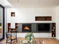 fireplace / BFDO Architects