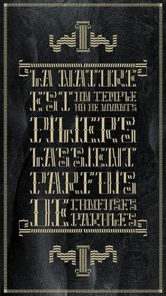 Dandy Collection Typeface / Font #1 / BAUDELAIRE / 2011 on the Behance Network