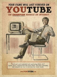 Retro Future Ads For Facebook, YouTube & Skype #illustration #retro #youtube