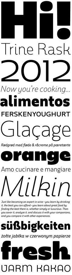 Rum Sans by Trine Rask #font #serif #sans #type #incubator #typography