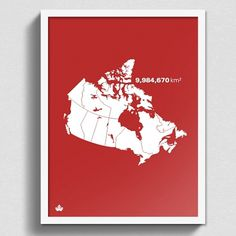 Print : Size Matters #canada #map