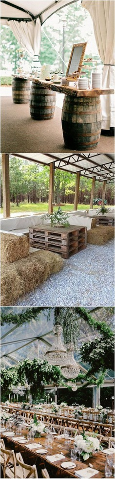 country rustic tented wedding reception ideas #weddingdecoration
