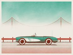 DKNG Studios » Featured Work #illustration #car #vintage