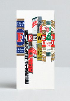 Farewell Drinks Dan Gladden — Design+Direction #alcohol #advertising
