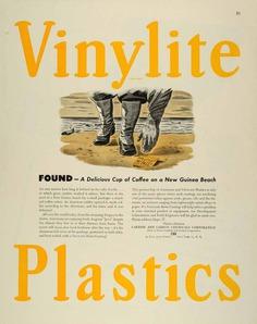 1944 Ad Carbide Carbon Chemical Vinylite Resin Coating Plastics New Guinea FZ6