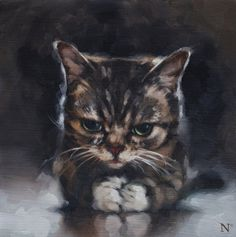 Aaron Nagel SOLD #bub #lil #cat #painting