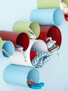 Tin Cans for Office Supplies