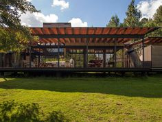 San Sen House Made of Wood and Glass