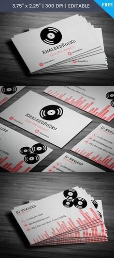 Free Dj Khaleed Business Card Template