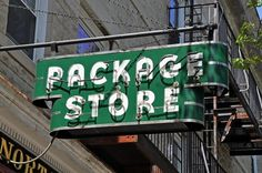 All sizes | Neon Package Store Sign - Great Barrington, Massachusetts | Flickr - Photo Sharing! #store #vintage #signs #signage #antique #package #neon