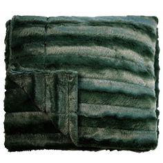Channel Plush Throw Winter Green 125cm x 150cm