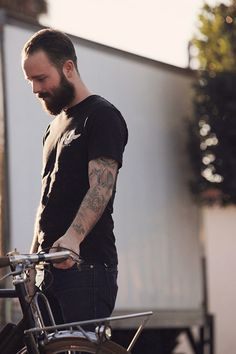 Convoy #bicycle #beard #tattoos