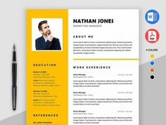 Assure Resume - Free Modern Resume Template for MS Word