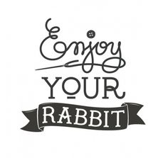 Enjoy your rabbit! on the Behance Network #typogrphy #tipografia #conejo #eyr #enjoy #type #elvira #rabbit