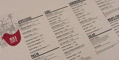 821 Cafe #menu