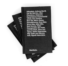 Manifesto by Tankboys #book #black #minimalism #cover #typography
