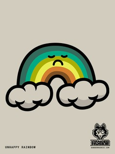 If 2020 was a rainbow. #rainbow #vector #illustrator #art #sad #unhappy #frown #illustration